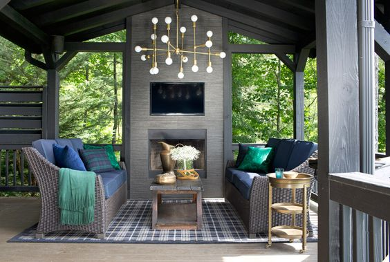 Hanging light fixtures - outdoor patio