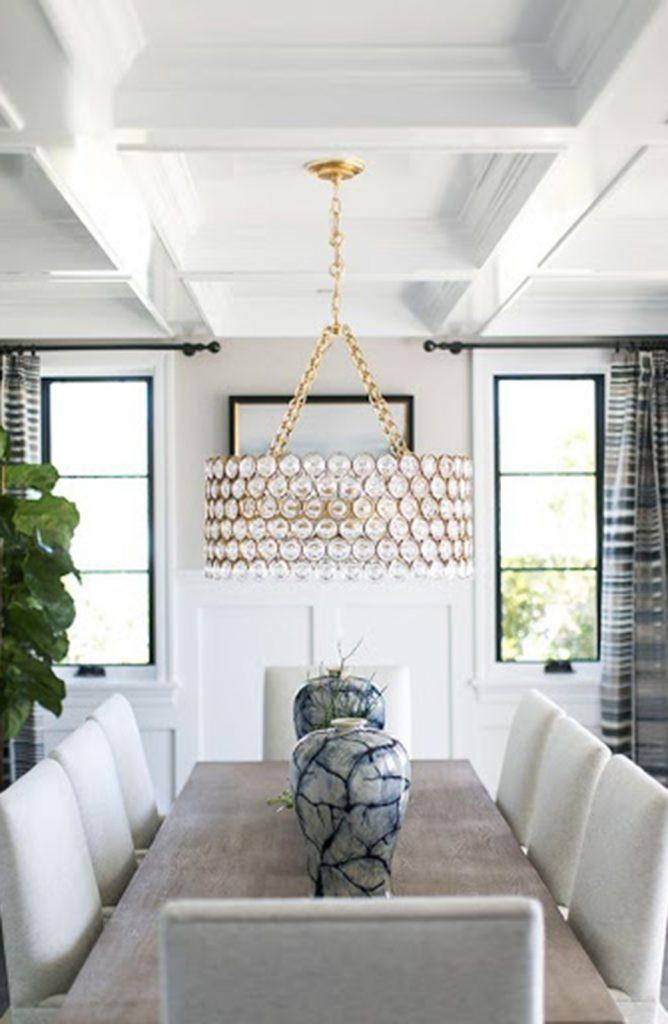 elegant gold and white hanging chandelier