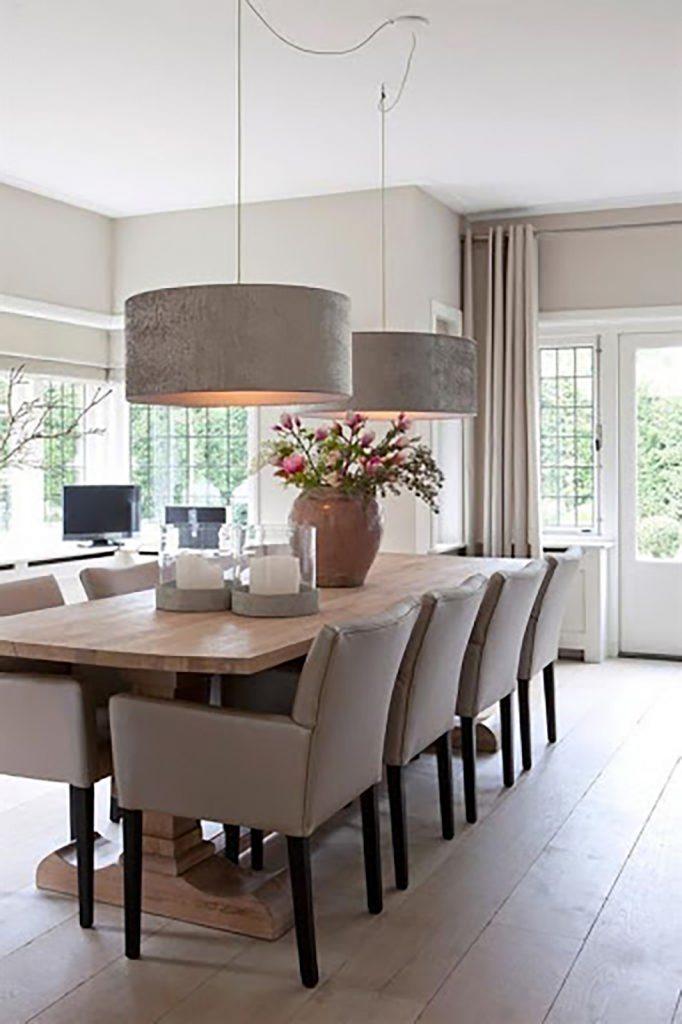 Trendy dining room lighting