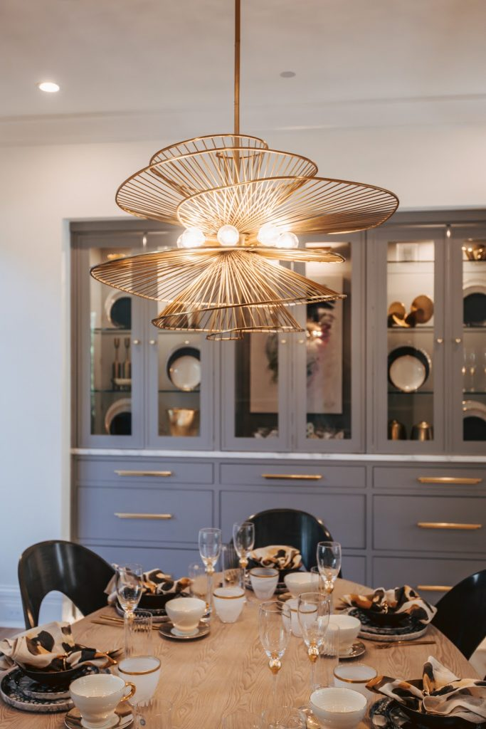 unique soft gold chandelier