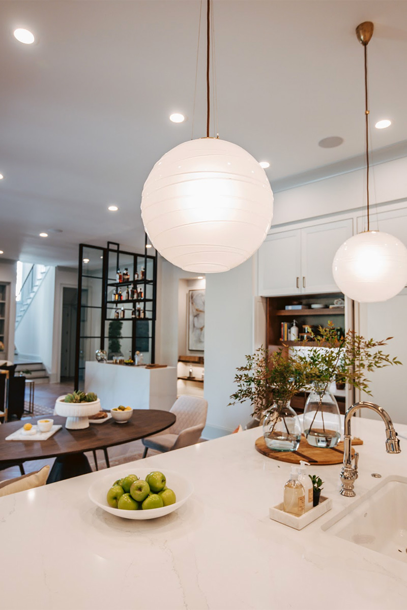 lighting trend - living frosted textured glass pendants