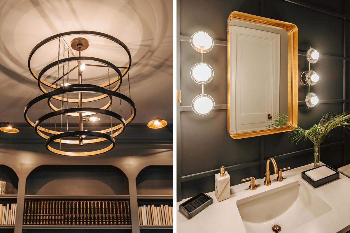lighting trend - geometric shape fixtures