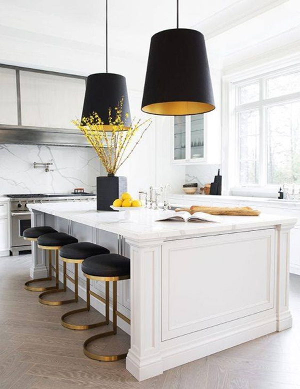 Pendant lighting in the kitchen