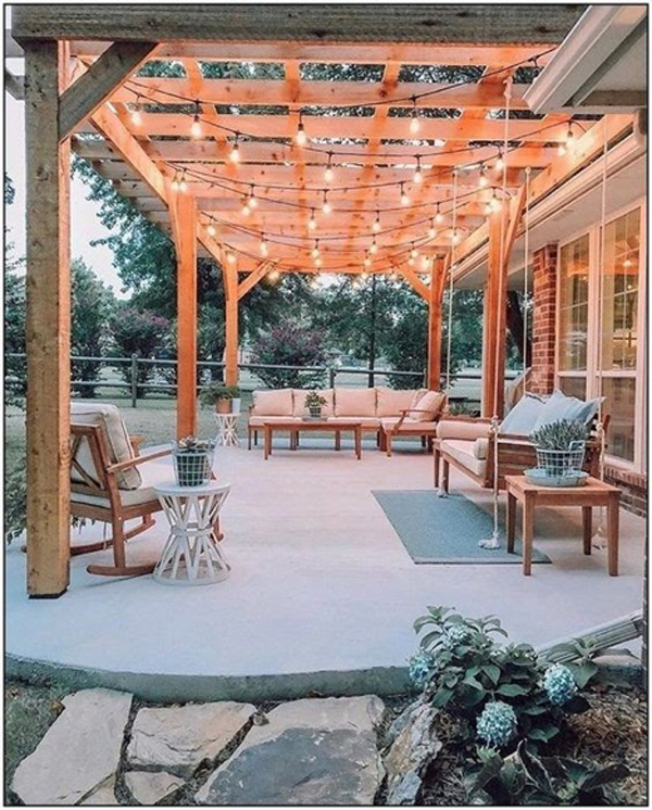 how to refresh your spring patio - outdoor lighting