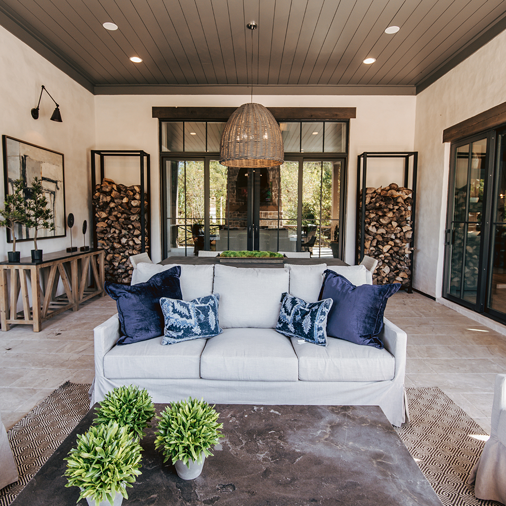 Have your patio refreshed - Lounge seating and overhead lighting